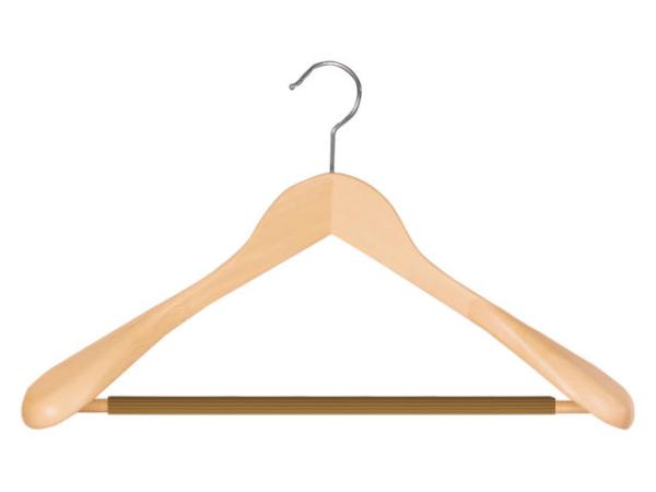Holzkleiderbügel für Anzug
