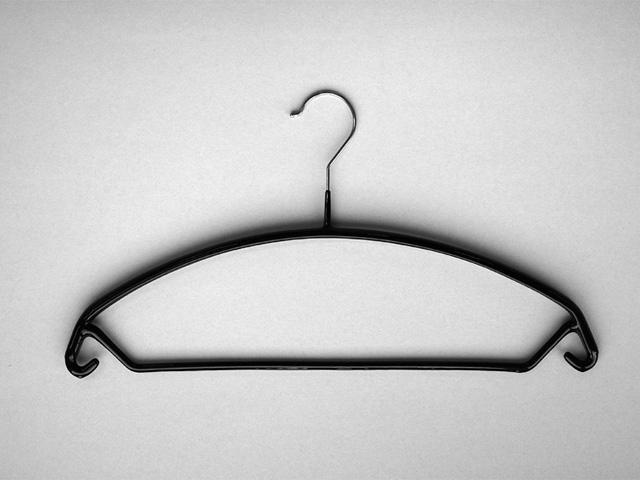 Metallkleiderbügel mit Hosensteg