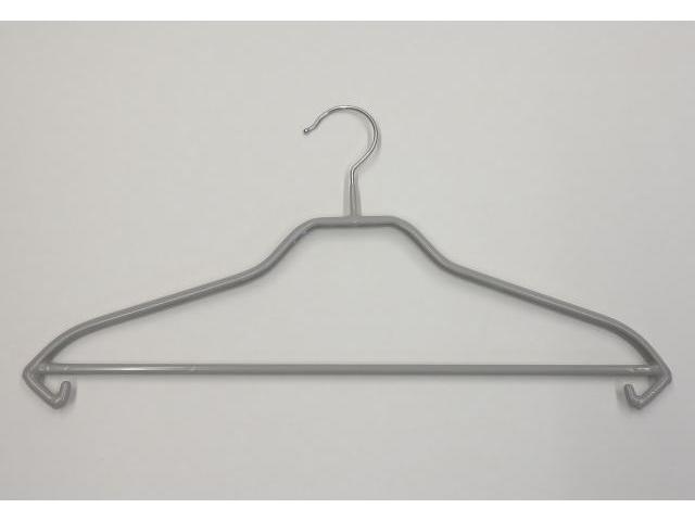 Kleiderbügel Grau mit Rutschhemmung