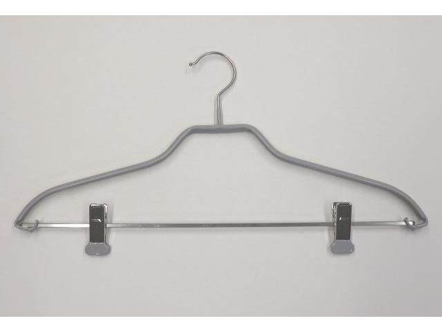 Kleiderbügel mit Klammern und Anti-Rutsch Beschichtung