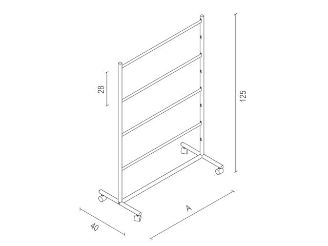 Kleiderbügelständer Art. ST80120S - Abmessungen